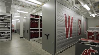 Washington State University Football Equipment Room Storage