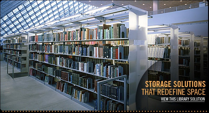 Learn more about our library mobile shelving, cantilever shelving and library storage solutions