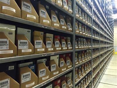 Adjustable Shelves in Off-Site Storage System
