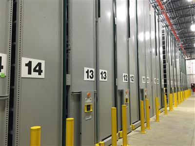 Library Off-Site Archival Storage on High-Density Mobile Storage System