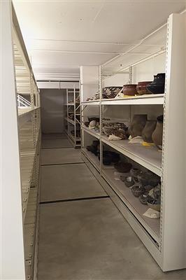 RaptorRAC™ Wide Span Shelving storing Museum Artifacts