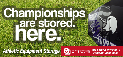 athletic equipment storage, football storage, helmet storage