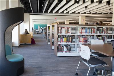 Cantilever library carts