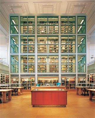 Library Books on Cantilever Shelving at Dartmouth College