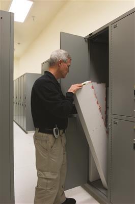 Long gun evidence storage at Northeast crime lab