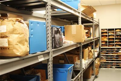 Evidence Storage on Racks at Wake County Public Safety Building, North Carolina