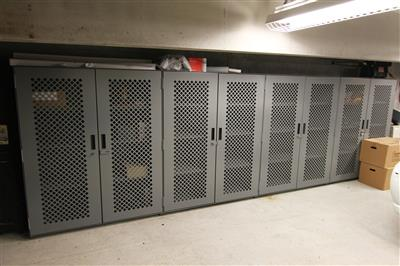 Supply Storage on Perforated Door Metal Shelving at Durham County Courthouse, North Carolina