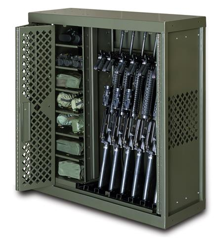 Weapon Rack with Weapons and Bin Storage For Optics ...