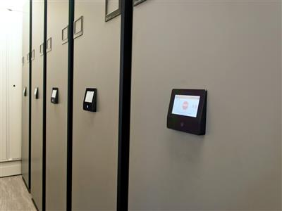 Records Stored and Secured at Natural Gas Company by Touchscreen Controls