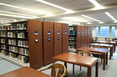 Salve Regina University McKillop Library Touch Technology Control Powered Mobile Storage