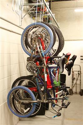 Bicycle Storage at Wake County Public Safety Building, North Carolina