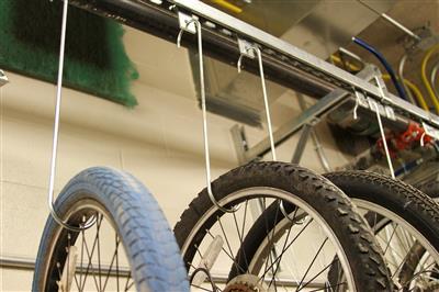 Bicycle Storage Detail, Wake County Public Safety Building, North Carolina