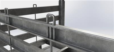 Wheel Rack strapping points