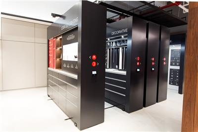 Showroom displays upscale residential and commercial hardware.jpg