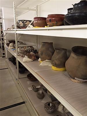 Museum Artifacts being stored on RaptorRAC™ Wide Span Shelving