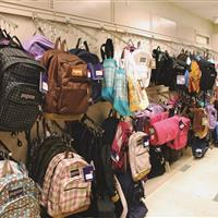 EZRail to hold backpacks at bookstore