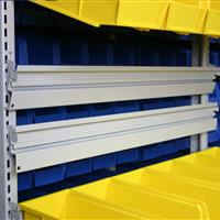 Slanted EZ Rail for sloped bins and shelving