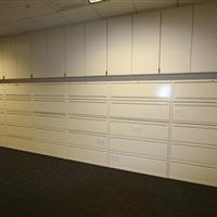 lateral files with flipper door
