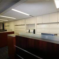lateral files behind reception station