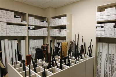 Weapons Evidence Storage, Wake County Public Safety Building, North Carolina