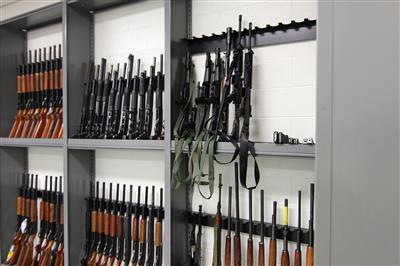 Floor Mounted Gun Evidence Storage at Durham County Courthouse, North Carolina
