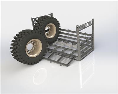 Wheel Rack demo of loading of tires